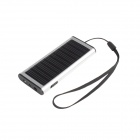 One Percent BM-2087W Solar Rechargeable Battery Hand Warmer Mobile Power Flashlight - Silver