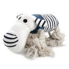 Doglemi DM50050 Blue Strip Cotton Plush Dog Pet Toy