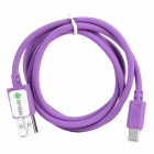 Y-LS Universal USB 2.0 to Micro USB Data/Charging Cable for Cell Phone - Purple