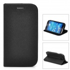 GTcoupe S-027 Seamless Protective PU Leather Flip-Open Case for Samsung Galaxy S4 / i9500 - Black