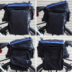 Yongruih BA001 Outdoor Cycling Nylon Bike Back Bag w/ Shoulder Strap - Blue + Black