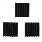 Aluminum Heatsink Radiators - Black (14 x 14 x 6mm / 3 PCS)