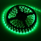 Vanntett 24W 520nm 300-SMD 3528 LED Green Light Car dekorasjon lys stripe - Svart (5M / 12V)