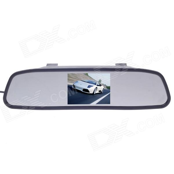 "XY-2045 4.3"" TFT Car Vehicle Rearview Mirror Monitor - Black"