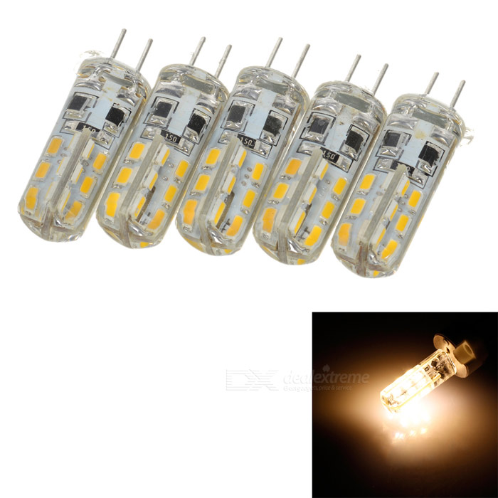 ZIYU ZY-0918 G4 2W 110lm 3000K 24-LED Warm White Car Instrument / Tail Lamps (DC12V / 5 PCS) - DXOther Car LED Bulbs<br>Brand ZIYU Model ZY-0918 Quantity 5 piece(s) Casing Color White + Yellow Material Aluminum + rubber Emitter Type LED Chip Type N/A Total Emitters 24 Light Color Warm White Rated Voltage 12V Power 2 W Luminous Flux 110 lm Color Temperature 3000 K Connector Type G4 Application Roof light / instrument lamp / combination rear lamp and other place with the G4 connector Other Features Long life up to 30000 hours Packing List 5 x Lamps<br>