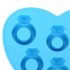 A021 Ring Style 6-Component Ice Cubes TPR Trays Maker DIY Mould - Blue