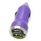 Dual-USB Car Cigarette Lighter Power Adapter for Iphone / Ipad / HTC - Purple