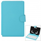 "Waterproof 80-Key Keyboard Case Holder for 7"" Tablet PC - Blue"
