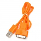 2-in-1 USB 2.0 to 30-Pin / Micro USB Data / Charging Cable for iPhone / Samsung - Orange (108.5cm)