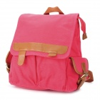 SHISHA PANGMA Canvas Backpack Shoulder Bag - Watermelon Red