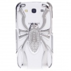 Skull Style Protective Electroplating Plastic Case for Samsung Galaxy S3 / i9300 - Silver