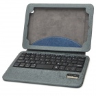 Bluetooth v3.0 59-Key Keyboard & PU Case w/ Stand for Ipad MINI - Blue + Grey