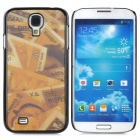 3D Cash Style Protective Plastic Back Case for Samsung Galaxy S4 i9500 - Golden + Black