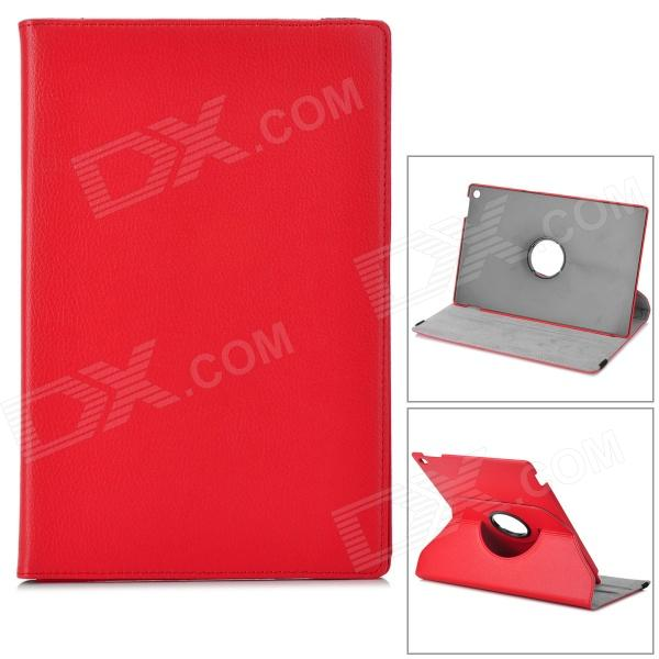 Lichee Pattern Protective PU Leather Case for Sony Xperia Tablet Z - Red epgate litchee pattern protective pu leather case cover stand for sony xperia tablet z2 red