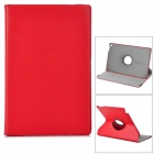 Lichee Pattern Protective PU Leather Case for Sony Xperia Tablet Z - Red