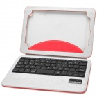 Bluetooth v3.0 59-Key Keyboard & PU Case w/ Stand for iPad Mini - Red + Light Grey