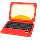 Bluetooth v3.0 59-Key Keyboard & PU Case w/ Stand for  Ipad MINI - Yellow + Red