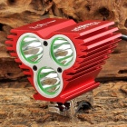 XY-S003 3 x CREE XM-L T6 1500lm 4-Mode White Bicycle Light - Red (4 x 18650)