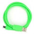 USB Male to Micro USB Male Data Sync & Charging Cable - Green (100cm)