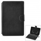 "Waterproof 80-Key Keyboard Case Holder for 7"" Tablet PC - Black"