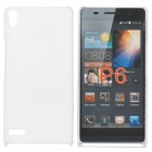 Protective Frosted ABS Back Case for Huawei Ascend P6 - White