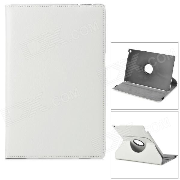 Lichee Pattern Protective PU Leather Case for Sony Xperia Tablet Z - White sony xperia x perfomance ds f8132 white