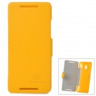 NILLKIN Protective PU Leather + PC Case for HTC 601e One Mini M4 - Yellow