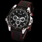 MCE 01-0060194 Men's Fashionable Honeycomb Dial Analog Mechanical Wrist Watch - Black