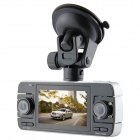 "KVD F80 2.7"" TFT HD 720p CMOS 3.0 MP Dual-Camera Wide Angle Car DVR w/ Mini HDMI, G-Sensor, 4-IR LED"
