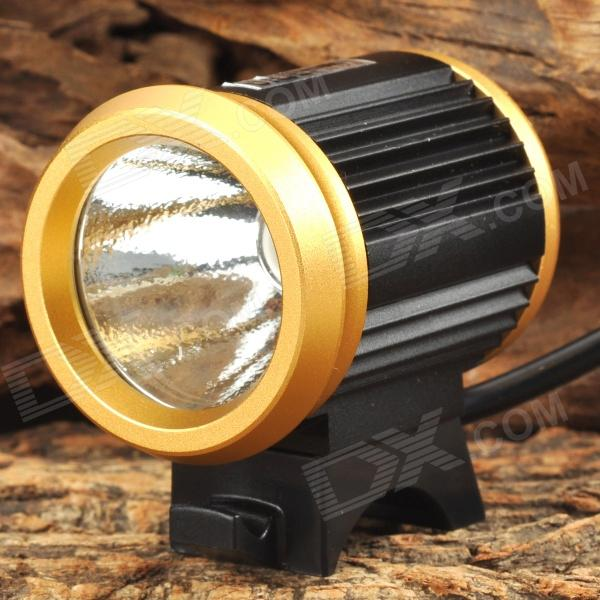 UltraFire LZZ-1 600lm 4-Mode White Bicycle Headlamp w/ CREE XM-L U2 - Black + Golden (4 x 18650)