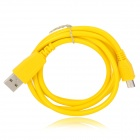 USB Male to Micro USB Male Data Sync & Charging Cable - Yellow (100cm)