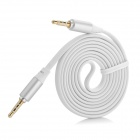 Y-35 3.5mm Jack Male to Male Shielded Audio Flat Cable - White (120cm)