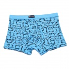 Men's Soft Modal Fabric Boxers Underwear - Blue (Free Size)