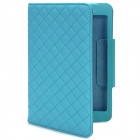 Squares Grid Pattern Stylish PU Leather Case for Ipad MINI - Blue