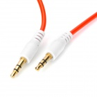 Fashionable 3.5mm Jack Male to Male Audio Cable - Red + White (100cm)