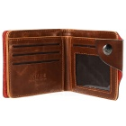 Archaize Leisure PU Leather Short Men's Wallet - Brown