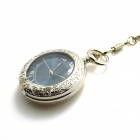 ZY-102 Retro Zinc Alloy Mechanical Analog Pointer Pocket Watch - Silver