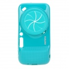 REMAX  Protective TPU Back Case w/ Camera Cover + Strap for Samsung Galaxy S4 Zoom - Blue