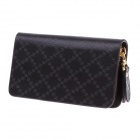 Fashionable Portable PU Leather Key Bag - Black + Golden