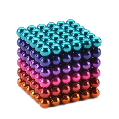 CHeerlink CC-216 Round Neodymium Iron Boron Magnets Balls - Multicolored (5mm / 216 PCS)