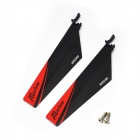 Great Wall Propeller R/C Spare Parts 9968-12 w/t Screw for 9968 R/C Helicopter - Black + Red (Pair)