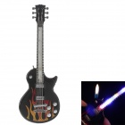 Fashionable LED Light Guitar Style Butane Lighter - Black