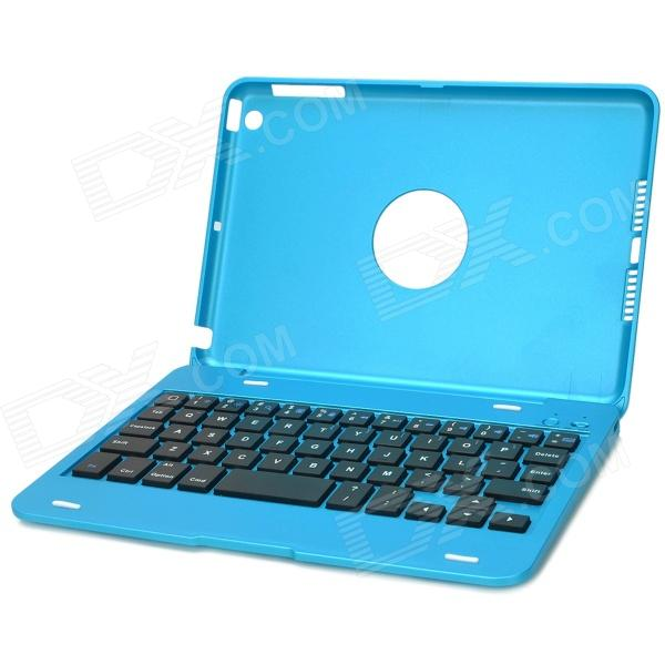 Bluetooth v3.0 50-Key Keyboard & Plastic Case Set for Ipad MINI - Blue