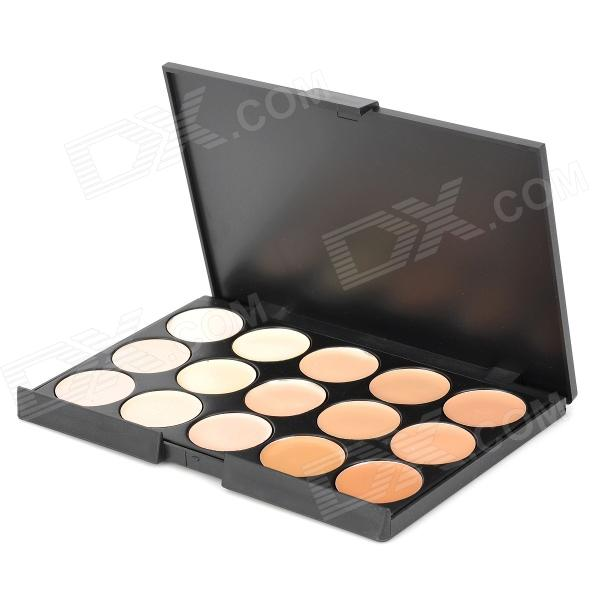 AD313 15-Color Palettes Make-Up Talcum Powder Concealer - Multicolored
