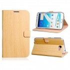 Wood Pattern Faux Leather Flip Case for Samsung Galaxy Note 2/ N7100 - Yellow
