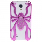 Skull Style Protective Electroplating Plastic Case for Samsung Galaxy S4 / i9500 - Deep Pink