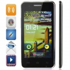 "M pei-380 (F5) Android 2.3 Bar Phone w/ 4.0"" Screen, Wi-Fi, Quad-Band and Bluetooth - Black + Silver"