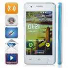 "M pei-380 (F5) Android 2.3 Bar Phone w/ 4.0"" Screen, Wi-Fi, Quad-Band and Bluetooth - White + Blue"