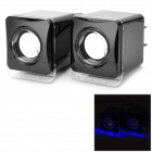 SENICC SN 405 Speaker for Cellphone / Computer - Black + Silver (Pair)