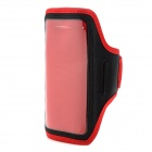 Sports Gym TPU + Neoprene Armband Case for Samsung Galaxy Mega 6.3 i9200 - Red + Black